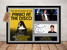 BRENDON URIE PANIC AT THE DISCO 2019 TOUR AUTOGRAPHED SIGNED PHOTO PRINT