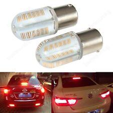 Lot 2 Ampoules P21W Ba15s 8W Rouge COB LED Clignotant Feux Recul et Stop 12V DC