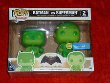 Batman Vs Superman Funko Pop Walmart Exclusive Glow In The Dark! Brand New