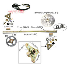 Go Kart Rear Axle Complete Disc Tray Kit & Brake Master Cyclinder for Buggy ATV