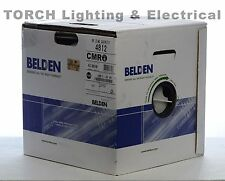 NEW IN BOX!!! 1000' BELDEN 4P 23AWG CMR CAT6 WHITE 4812 009 A1000 Cable Wire