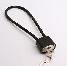 WIRE CABLE TRIGGER MECHANISM padlock LOCK is cord chain security for gun