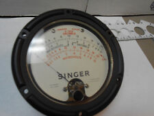 "641-13762 SINGER METER MICROVOLTS/DECIBELS -6 -+20 FS=1MADC NOS 4 1/2"""
