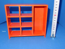 Dollhouse Miniature / Tutti Size 70´s Retro Orange Ikea Shelf Stunning