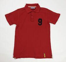 Maglia polo M numero 9 nove rosso uomo usato manica corta vintage t shirt T4148