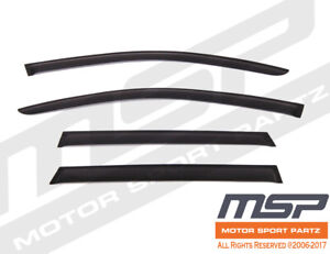 Out Channel Visors Wind Deflector Smoke Tinted For Volkswagen Touareg 10-16 4pcs