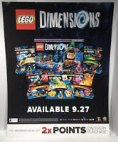 "Lego Dimensions Promo Poster Sign GameStop EUC PS4 xbox 1 24""x18"""
