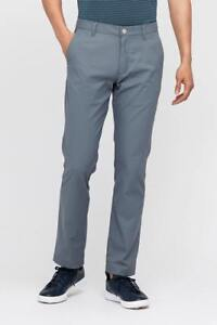 MAIDE by BONOBOS HIGHLAND Performance Golf Pants GRAY Slim Straight 40/32 - NWT