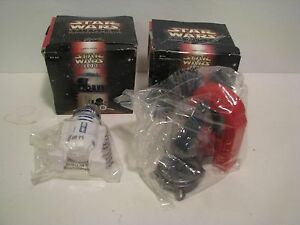Lot 2 Star Wars Episode 1 Premiums Coruscant  R2D2 & SITH HOLOPROJTOR Taco Bell