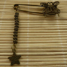 42pcs bronze plated butterfly brooch with star charms 58x24mm ZH995