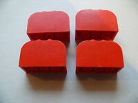 Lego 4 briques rges arrondies set 4551 4131 4134 /4 red modified brick w/4 studs