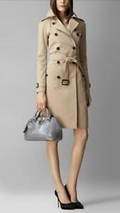 BURBERRY 'Small Blaze' Trench Patent Leather Bowler Bag