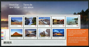 Canada 2019 MNH For Far & Wide 9v M/S Mountains Falls Tourism Landscapes Stamps