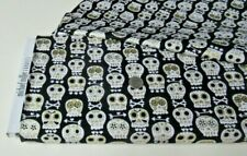 New listing Michael Miller quilt-craft fabric Bonehead Metallic black 2 yds (cm-4425) Sale!