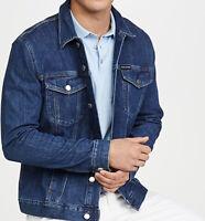 CALVIN KLEIN JEANS Men's Indigo Essential Trucker Iconic Denim Jacket Large