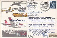 Rare C37d Closure RAF Oakington.Signed 3 crews & Odette Marie Céline Hallows GC