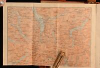 1910 Karl Baedeker Great Britain Handbook for Travellers Folding Maps