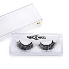 1 Pair Handmade Makeup Mink Hair Thick Bushy Soft False Eye Lashes 3D Eyelashes