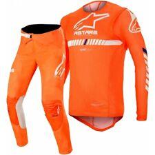 2020 Alpinestars Supertech Flo Naranja Blanco Motocross Mx Adulto Raza Gear