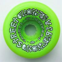 "POWELL PERALTA  ""Street Bones"" Skateboard Wheels 57mm 93a LIME 1980s NOS RARE"