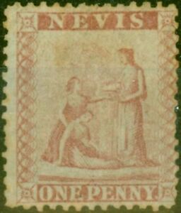 Nevis 1862 1d Dull Lake SG1 Fine Unused (2)