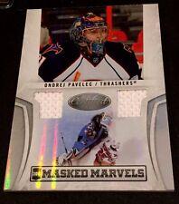 ONDREJ PAVELEC 2010-11 Certified Hockey DUAL JERSEY Masked Marvels Card #d /99