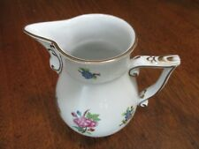 """VTG 5"""" TALL HEREND-ETON PATTERN WITH FLORAL GROUPINGS LARGE CREAMER/JUG-HUNGARY"""