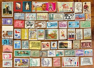 [Lot 343] 100 Assorted Worldwide Stamp Collection Off Paper - All Stamps Shown!