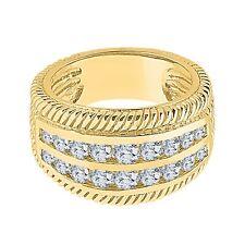 Men's Ring 14K Yellow Gold Over 2.50 Carats Round Diamond Right Hand Anniversary