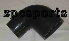"3"" to 2"" Inch 90 Degree Silicone Reducer Elbow Intercooler Coupler Pipe, Black"