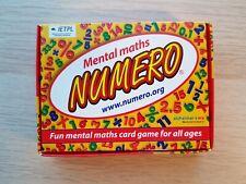 Numero Mental Maths Card Game - NEW