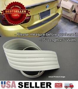 """35"""" x 3"""" Gray Rear Bumper Rubber Guard Cover Sill Plate Protector For Dodge"""