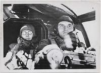 Im Cockpit, Orig.-Pressephoto, von 1940