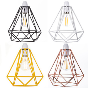Contemporary Bird Cage Metal Basket Ceiling Light Shade & Lampshade Pendant Gift