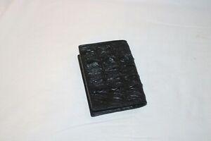 New Real Black Crocodile Alligator Leather Back Skin Men Passport Holder Wallet
