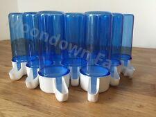 10 x Blue Drinker Bird Birds Cage Front Anti Algae Finch Canary Aviary 200ml