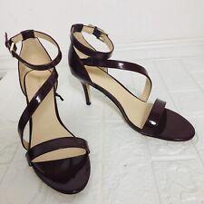 NEW Nine West Women's Ankle Strap Sandal Red Wine Heel SIZE 11