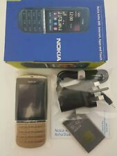 Brand New Nokia Asha 300 Unlocked 3G 5MP Camera Touch&Type Mobile Phone GOLD.