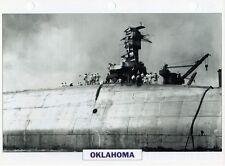 1941 USS OKLAHOMA Battleship (Pearl Harbor) Warship Photograph Maxi Card /