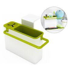 Suction Cup Kitchen Sink Holder Bathroom Plastic Storage Shelf Rack Organizer