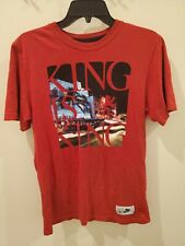 """Mens Nike Lebron James """"King Is King"""" T Shirt Size Small Red"""