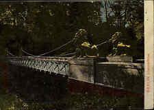Berlin ~1910 Löwenbrücke Brücke Statue Löwen Weltpostverein gelaufen frankiert