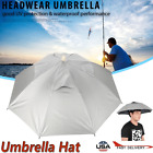 Umbrella Hat For Outdoor Fishing Handfree Rain/UV Protection 8 Ribs Cap Umbrella