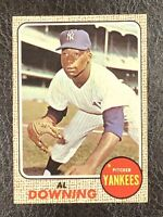 1968 Topps Al Downing #105 NM-MT New York Yankees Pitcher