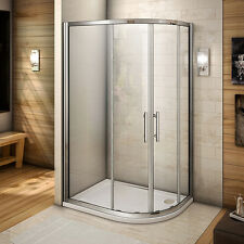900x760 Quadrant Shower Enclosure Cubicle and Tray Right Entry Corner Screen