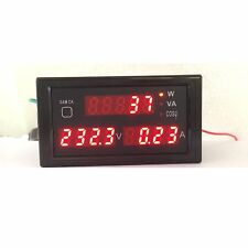 AC 380v- 220V Digital LED 100A Watt Power Meter Volt Amp Ammeter Voltmeter 240v