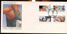 La Nuova Zelanda Giochi Olimpici del 1992 FDC primo giorno copertura #C 12827