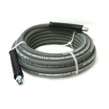 "Suttner B3V00352 50' Gray 4000 PSI 3/8"" Pressure Washer Hose MNPT x M Swivel"