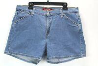 """Levi's Nouveu Stretch Womens Size 16 Blue Denim Stretch Jean Shorts 5"""" Inseam"""