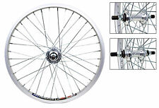 """Bicycle Wheels 20"""" Pair Silver 14mm Axles 36'S Alloy New #761"""